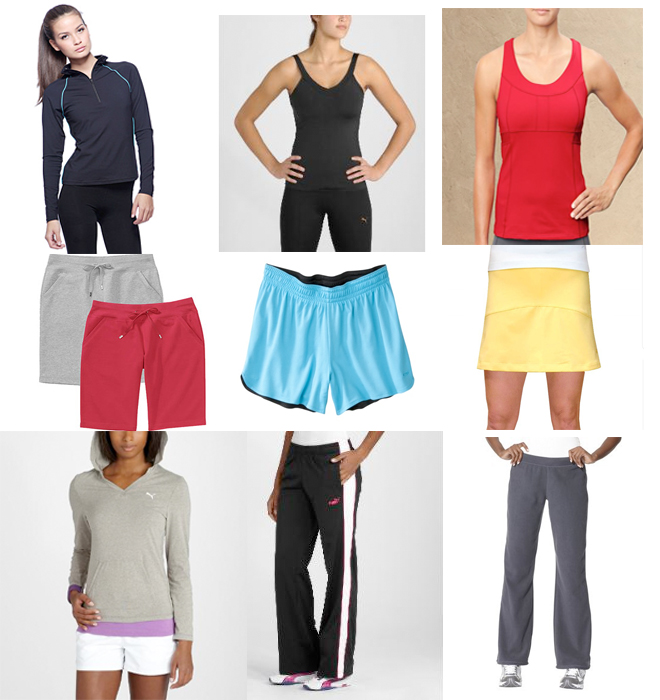 Clothes stores :: Womens exercise clothes
