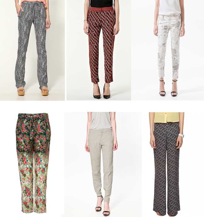 Printed Trousers, Pants and Denim for Women
