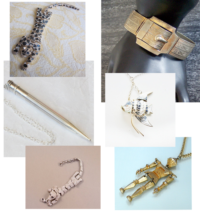 vintage articulated jewelry