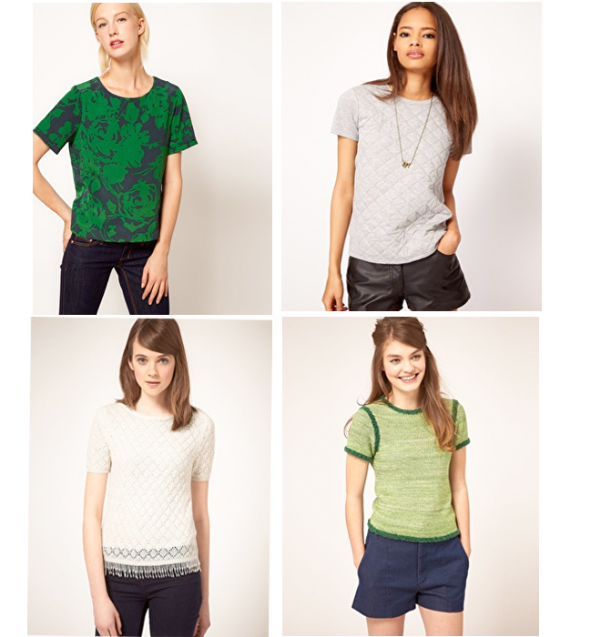 short sleeve pullover tops from ASOS.com